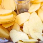 Neue Kartoffelscheiben