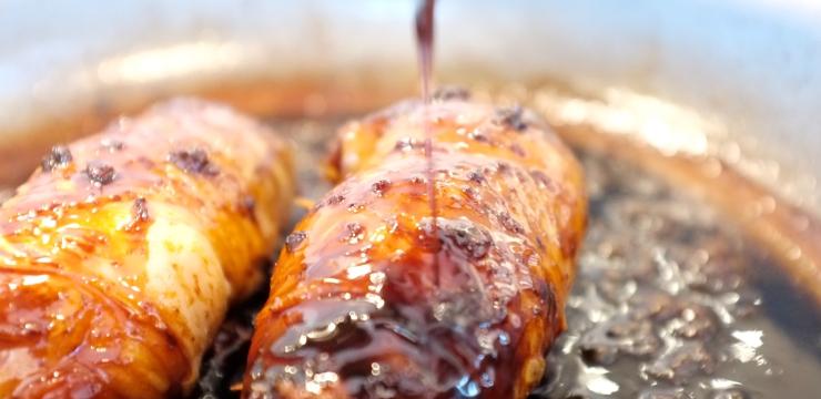 Pouletschenkel an Honig Sojasauce