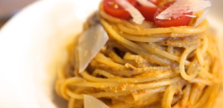 Auberginen-Paprika-Pasta